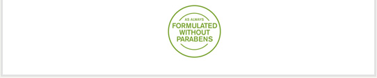 formulated without parabens