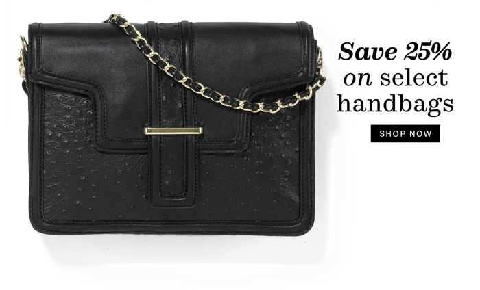 Save 25% on select handbags. Shop Now.