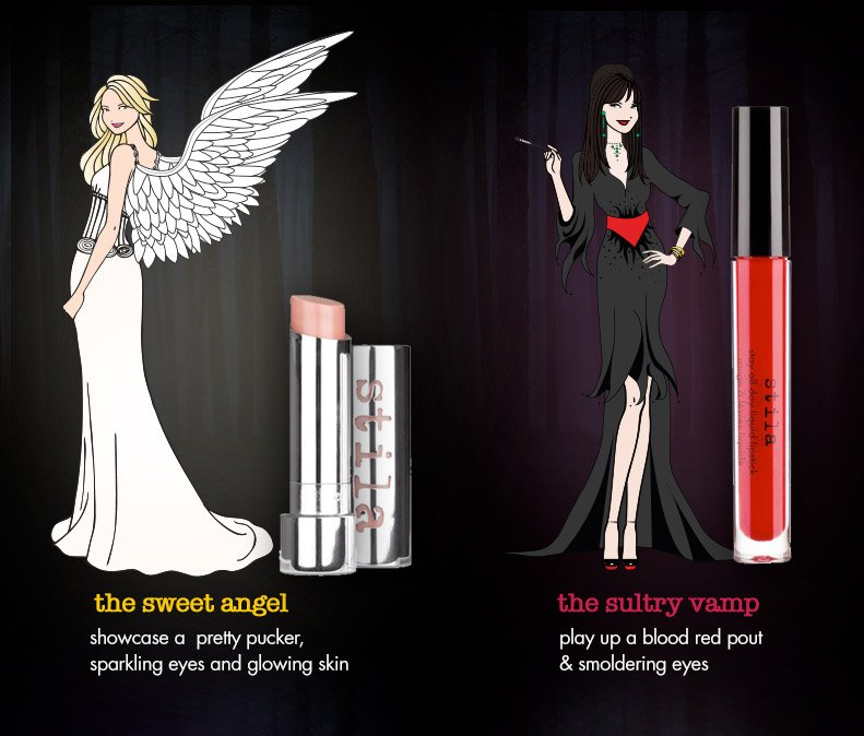 the sweet angel look and the sultry vamp look