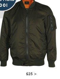Nylon Short Bomber Jacket
