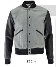 Contrast Sleeve Baseball Jacket