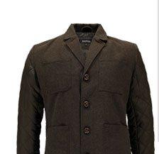 Tweed Blazer With Contrast Sleeves
