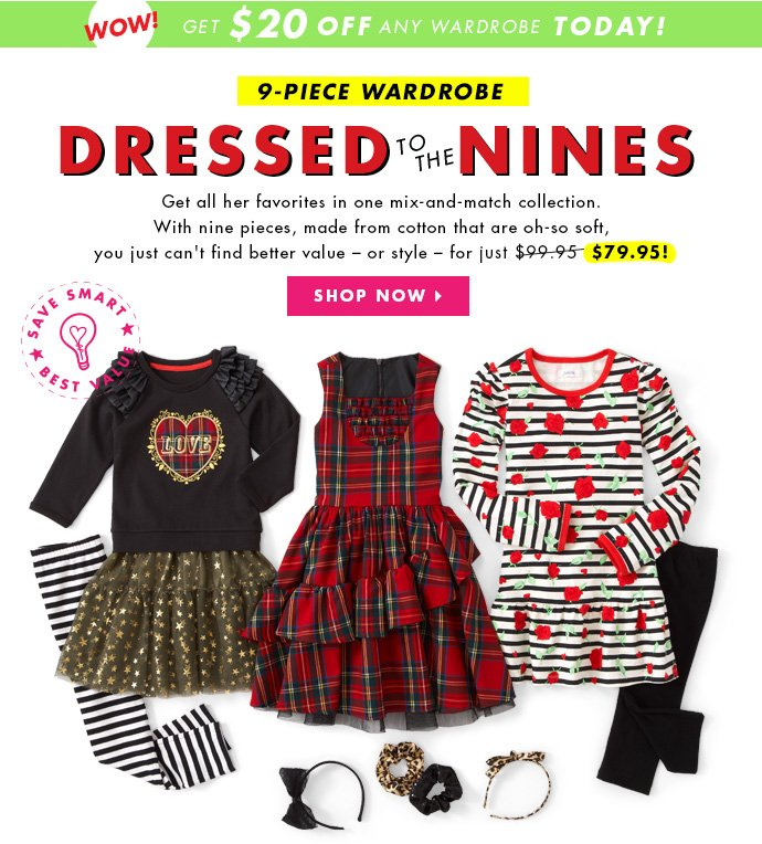 Dressed To The Nines. All Her Favorites For Just $79.95!