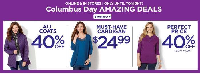 Shop Columbus Day Amazing Deals!