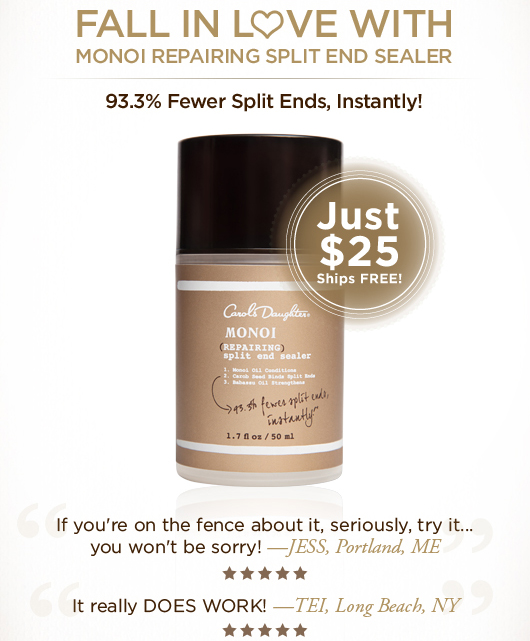It's Time To Fall In Love With Monoi Repairing Split End Sealer & Get 93.3% Fewer Split Ends, Instantly! + A FREE SAMPLE