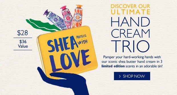Shea Hand Cream Trio 3 limited Edition Scents