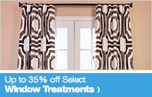 Up to 35% off Select Window Treatments