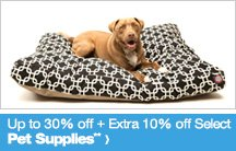 Up to 30% off + Extra 10% off Select Pet Supplies**