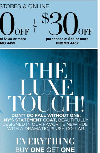 Buy 1, get 1 50% Off + Save $90 in stores & online! Shop Now!