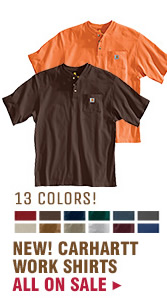 Mens Carhartt Work Shirts on Sale