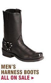 Mens Harness Boots on Sale