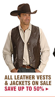 All Leather Vests and Jackets on Sale