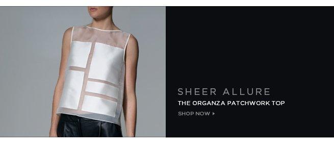 Shop the Sheer Organza Patchwork Top