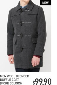 MEN BLENDED DUFFLE COAT