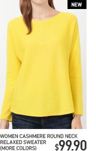 WOMEN'S ROUND NECK RELAXED SWEATER