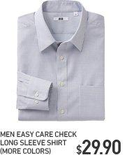 MEN EASY CARE CHECK SHIRT