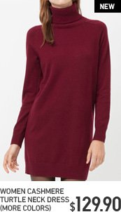 WOMEN'S CASHMERE TURTLE NECK DRESS