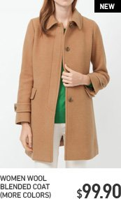 WOMEN WOOL BLENDED COAT