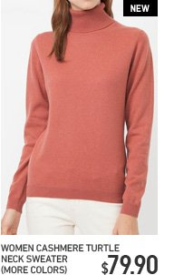 WOMEN'S CASHERE TURTLE NECK SWEATER
