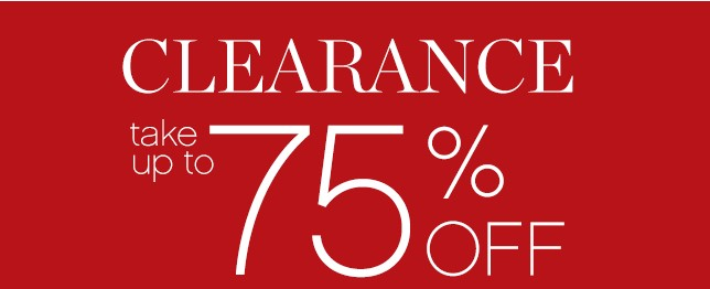 Clearance take up to 75% OFF