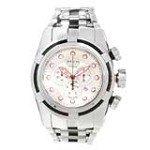 Invicta 14064 Men's Bolt Zeus Reserve Red Accent Silver Dial Steel Bracelet Chronograph Dive Watch