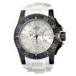 Invicta 11927 Men's Excursion Silver Dial Black IP Steel Rubber Strap Chronograph Dive Watch