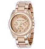 Michael Kors MK5263 Women's Rose Gold Runway Glitz Blair Chronograph Watch