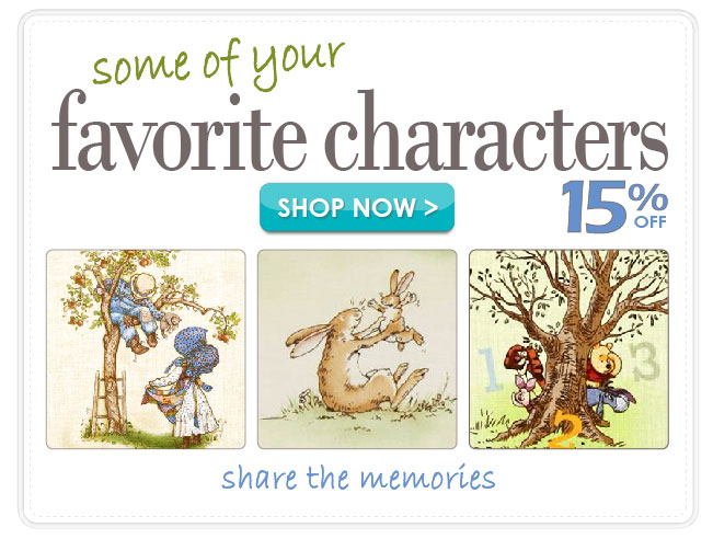 15% off All Famous Characters Novelty Cotton Prints