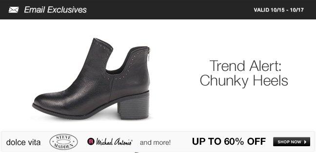 Trend Alert: Chunky Heels