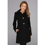 DKNY Herringbone Turnkey Coat