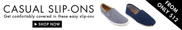 Casual Slip-Ons under $12