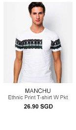 Manchu Ethnic Print Tee