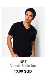 Net V-Neck Tee