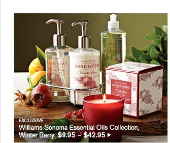 EXCLUSIVE - Williams-Sonoma Essential Oils Collection, Winter Berry, $9.95 – $42.95