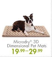 Microdry(R) 3D Dimensional Pet Mats 19.99-29.99