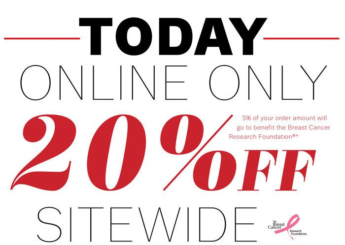 Today Online Only 20% Off Sitewide