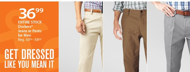 $36.99 Dockers Jeans or Pants for Men