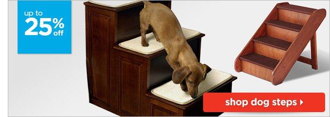 Up to 25% off dog steps