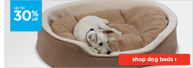 Up to 30% off dog beds