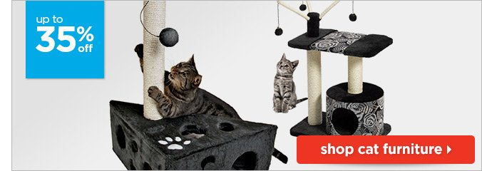 Up to 35% off cat furniture