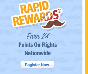 Earn Double Rapid Rewards Points Nationwide