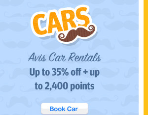 Up to 35% off and Up to 2,400 Points on Avis Car Rentals