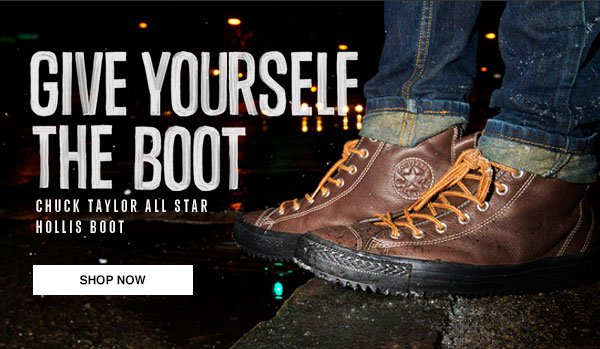 GIVE YOURSELF THE BOOT - CHUCK TAYLOR ALL STAR HOLLIS BOOT