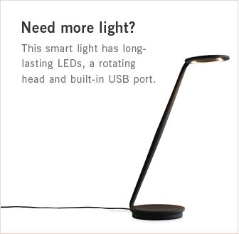 Need more light? This smart light has long- lasting LEDs, a rotating head and built-in USB port.