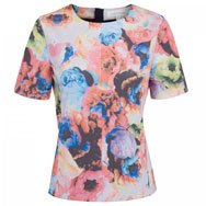 FINDERS KEEPERS - Leader Of The Pack floral satin top