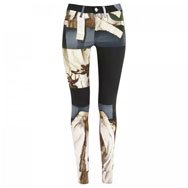 ACNE - Mid-rise printed skinny jeans
