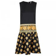 SUNO NY - Printed cotton and silk blend dress