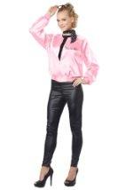 Adult Satin Pink Ladies Jacket