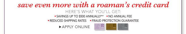 become a roaman's cardholder
