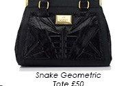 Snake Geometric Tote